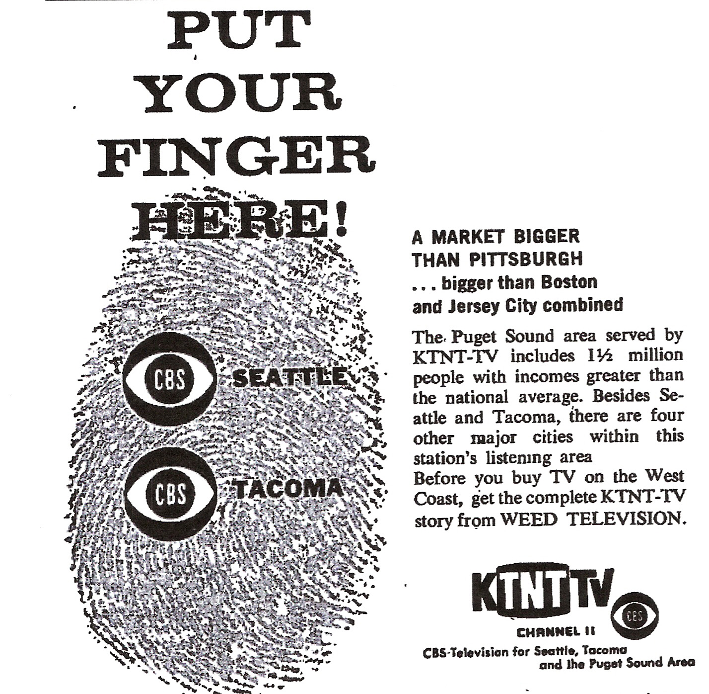 KTNT AGENCY AD NOV1960 BROADCASTING MAGAZINE
